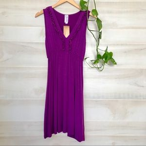 Francesca's magenta purple dress